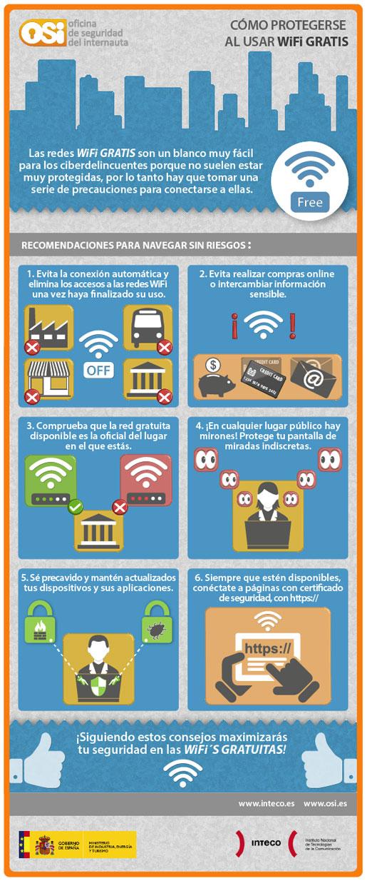 Consejos al utilizar red WiFi gratuita